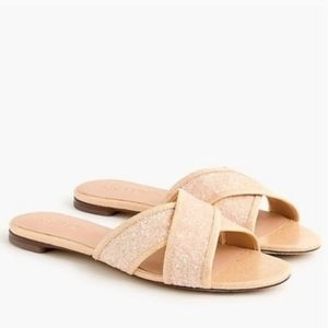 J.Crew Glitter Criss Cross Slides